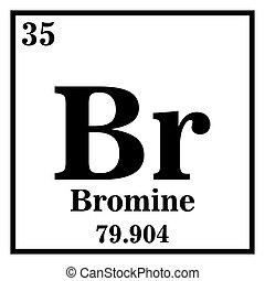 Periodic Table Element Bromine Icon Periodic Table Element