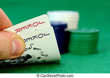 bromista, fichade póquer