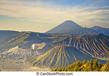 Bromo volcano at sunrise, Tengger Semeru National Park, East...