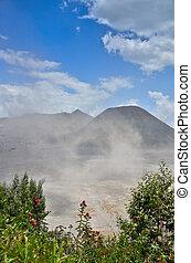 Bromo Volcano Mountain in Tengger Semeru National Park, East...