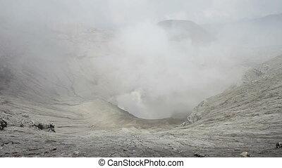 Bromo volcano timelapse, Indonesia - Bromo volcano...