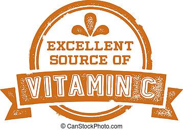 bron, c, vitamine, uitstekend