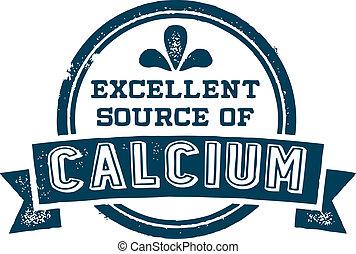 bron, uitstekend, calcium