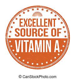 bron, vitamine, uitstekend, postzegel