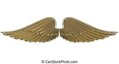 bronce, alas ángel