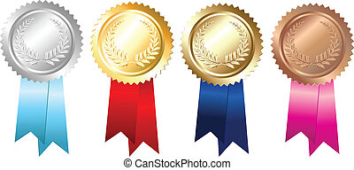 bronce de plata de oro, emblemas