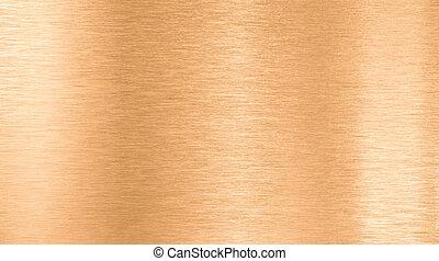 bronce, o, cobre, metal, textura