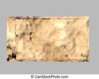 bronce, placa, blanco