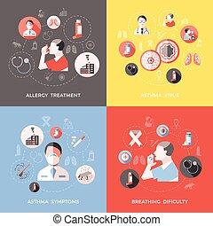 Bronchial Asthma Concept