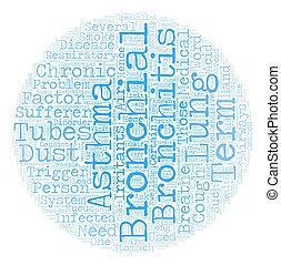bronchitis asthma text background wordcloud concept