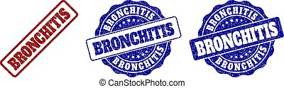 BRONCHITIS Grunge Stamp Seals