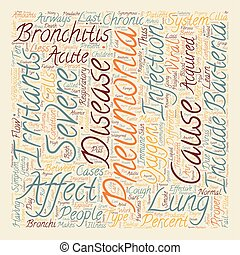 bronchitis pneumonia text background wordcloud concept