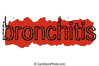 Bronchitis sticker stamp