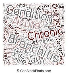 bronchitis text background wordcloud concept