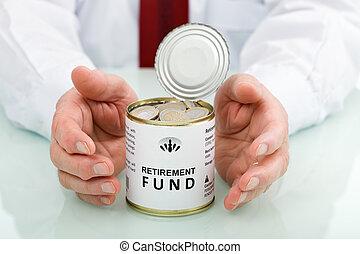 broniąc, senior, osamotnienie, ręka, fundusz