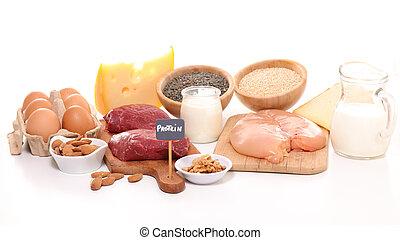 bronnen, proteïne