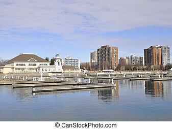 Bronte harbor in Spring, Oakville, Ontario