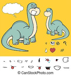 brontosaurus expressions cartoon3