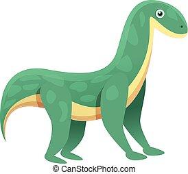 Brontosaurus icon, cartoon style