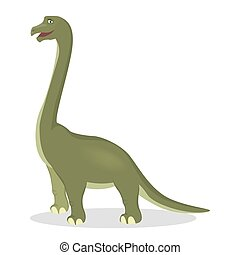 Brontosaurus isolated dinosaur. - Brontosaurus dinosaur...