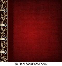 bronzato, -, album, ornare, coperchio, rosso, foto