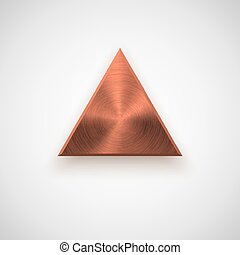 Bronze Abstract Triangle Button