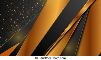 Bronze and black abstract corporate motion background with glitter dust. Video animation Ultra HD 4K 3840x2160