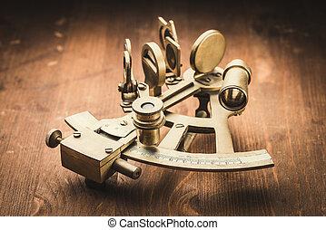 bronze, antigas, sextant