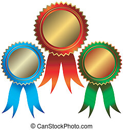 bronze, argent, médailles, collection, or