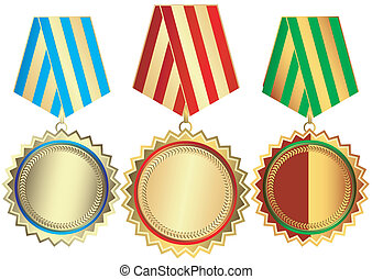 bronze, argent, médailles, or
