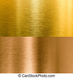 bronze, arrière-plans, métal, texture, or