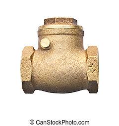 bronze, balançoire, vérifiez valve, (non, retour, valve),...