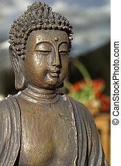 bronze, buddha.