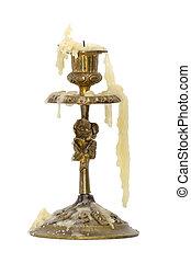 bronze, candlestick