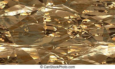 Bronze Cool Crumpled Foil Seamless Background Texture