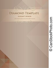 Bronze Diamond Template - bronze diamond triangle abstract...
