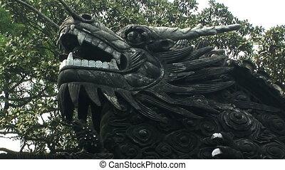Bronze Dragon on wall