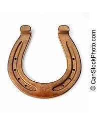 bronze, fer cheval