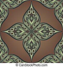 Bronze Floral Tile