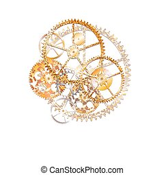 bronze grid - gears on the white background illustration...