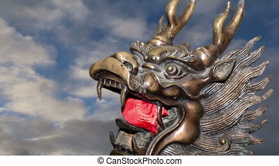 Bronze Guardian Lion Statue-Beijing - Bronze Guardian Lion...