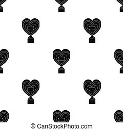 Bronze heart in the form of awards.The audience award for best film. Movie awards single icon in black style vector symbol stock illustration.