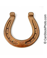 Bronze horseshoe - this is a 3d render illustration