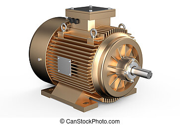 Bronze industrial electric motor