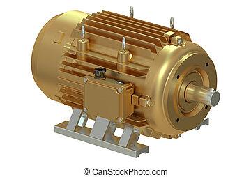 bronze, industriel, moteur électrique
