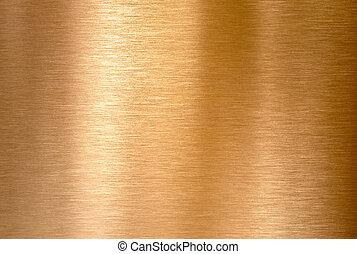 bronze, kupfer, hintergrund, metall, oder, gebürstet, beschaffenheit