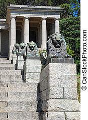 bronze, lions, et, étapes, cap, afrique sud