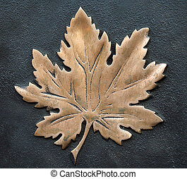bronze maple leaf - bronze Canadian maple leaf