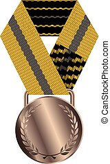 Bronze Medal Isolated on White Background Vector