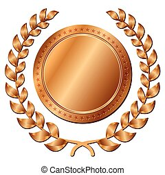 bronze medal on white background - Illustration of bronze...